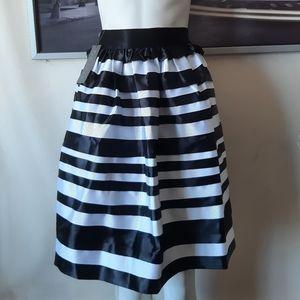 NWT stripped pin up skirt elegant  evening dress